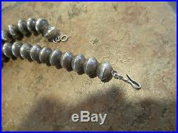 23 SCARCE OLD PAWN NAVAJO Sterling Silver CORAL Squash Blossom Necklace