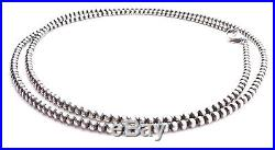 60 Navajo Pearls Sterling Silver 4mm Beads Necklace