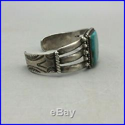 A Good Older, Handmade, Turquoise And Sterling Silver Bracelet Fred Harvey Era