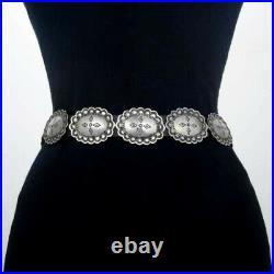 Beautiful Handmade German Silver LADIES Concho Belt by Navajo BY Joey Mc Cray