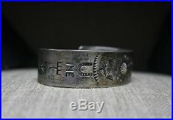 Beautiful Vintage Harvey Era Navajo Sterling Silver Cuff Bracelet