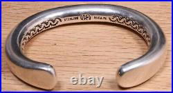Cody A. Sanderson Navajo Heavy Sterling Silver Cuff Bracelet X144B