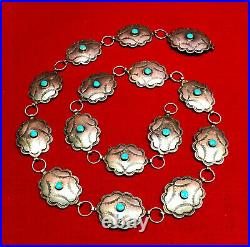 Concho Belt Sterling Silver 96 grams 35 Native American
