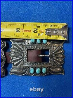 Daniel SUNSHINE REEVES NAVAJO Indian BELT, TURQUOISE, STERLING Authentic