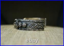 Darryl Becenti Native American Navajo Sterling Silver Cuff Bracelet
