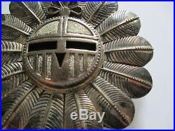 Delgarito Vintage Navajo Modernist Sculpture Sterling Silver Bolo Tie Giant Face