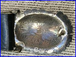 Fine! Old Pawn Navajo Southwest Sterling Silver & Turquoise Concho Belt & Buckle