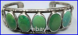 GORGEOUS OLD PAWN NAVAJO CUFF Bracelet BLUE / GREEN TURQUOISE SILVER ARROWS