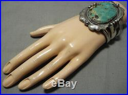 Heavy Heavy! Navajo Royston Turquoise 100 Grams Sterling Silver Bracelet