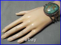 Huge Vintage Navajo Royston Turquoise Sterling Silver Bracelet