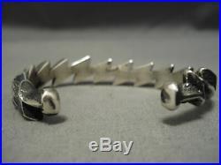 Important Aaron Anderson Navajo Zig Zag Sterling Silver Bracelet