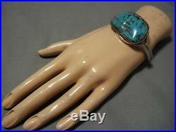 Intricate Spiderweb Turquoise! Vintage Navajo Sterling Silver Bracelet