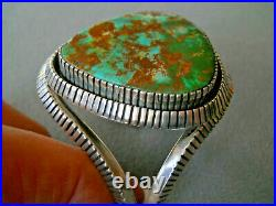 J. BILLIE Native American Royston Turquoise Sterling Silver Cuff Bracelet