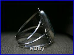 Massive Native American Navajo Turquoise Sterling Silver Cuff Bracelet