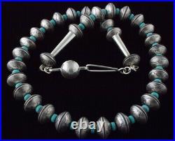 Mercury Head Dime Bead Necklace By Navajo Artist James McCabe