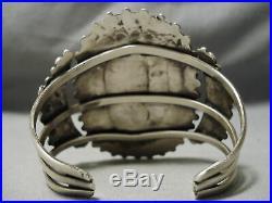 Museum Vintage Navajo Tears Of Turquoise Sterling Silver Bracelet Old