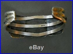 Native American Damele Turquoise Sterling Silver Cuff Bracelet HERMAN VANDEVER