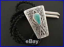 Native American Handmade NAVAJO RARE Royston Turquoise Bolo Tie