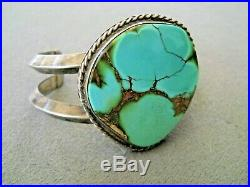 Native American Indian Navajo Royston Turquoise Sterling Silver Cuff Bracelet