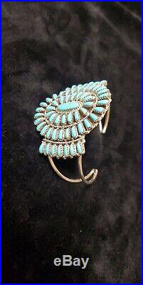 Native American Navajo Bracelet Turquoise Cluster