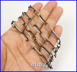 Native American Navajo Handmade 18G Sterling Silver 24 Linked Chain Necklace