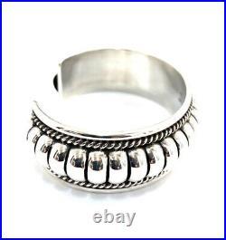 Native American Sterling Silver Navajo Handmade Silver Cuff Bracelet
