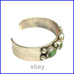 Navajo Handmade Sterling Silver Sonoran Turquoise Cuff Bracelet Bob Becenti