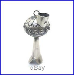 Navajo Handmade Sterling Silver Squash Blossom Pendant Tim Yazzie