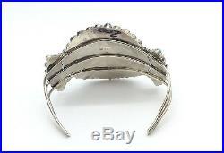 Navajo Handmade Sterling Silver Turquoise Cluster Bracelet Mathilda Benally