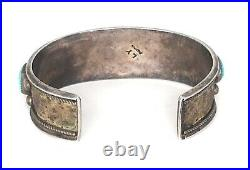 Navajo Old Pawn Kingman Turquoise Sterling Silver Cuff