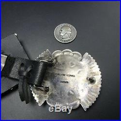 Navajo SUNSHINE REEVES Sterling Silver RED MED CORAL Cluster Sampler CONCHO BELT