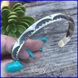 Navajo Stamped Sterling Silver Bracelet Cuff
