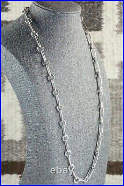Navajo Sterling Silver Chain Necklace Ben Begay