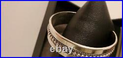 Navajo Sterling Silver Cuff Bracelet by Ron Yazzie Small Wrist Bangle 35 Grams