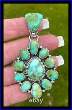 Navajobig Sscluster Pendant Sonoran Gold Turquoise Geraldine James