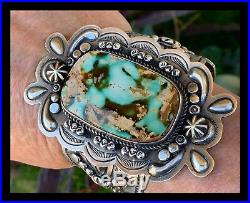 Navajodean Sandavol Huge Huge Royston Turquoisesterling Bracelet