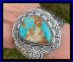 Navajohuge Big Boldroyston Turquoise Sterling Bracelet Marcella James
