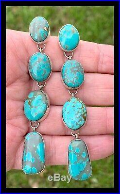 Navajolarge3 1/4 In Longssturquoise Earringsgeraldine James