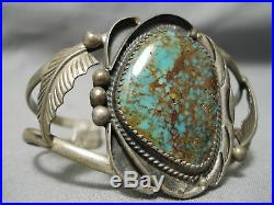 Opulent Vintage Navajo Royston Turquoise Sterling Silver Bracelet Old