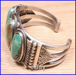 Oscar Alexius Navajo Sterling Silver Turquoise Bracelet 220DEJI-5