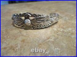 REAL FINE OLD Fred Harvey Era Navajo Sterling Silver THUNDERBIRD Bracelet