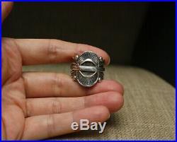 Rick Martinez Native American Navajo Sterling Silver Ring size 11