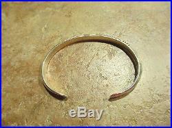 SPLENDID Vintage Navajo CARINATED Sterling Silver Design Cuff Bracelet