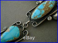 Southwestern Native American Indian Turquoise Sterling Silver Bead Necklace