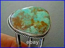 Southwestern Native American Navajo Turquoise Sterling Silver Cuff Bracelet