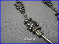 Superior Vintage Navajo Sterling Silver Kachina Necklace Old