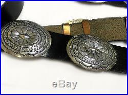 VTG 1960's 1970's Unworn Navajo Artisian Concho Belt in. 925 Solid Silver