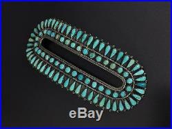 Vintage FM Begay Navajo Indian Sterling Silver Turquoise Hair Barrette