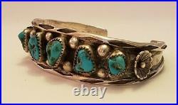 Vintage Native American Sterling Silver Navajo Bracelet Signed