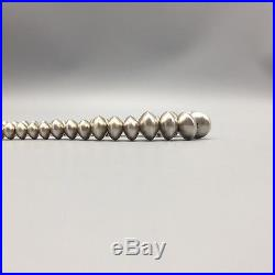 Vintage Sterling Silver Bead Navajo Pearls Necklace Signed